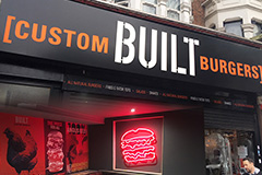 Custom built burgers first uk store