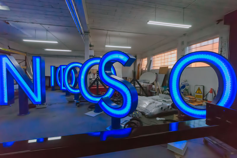 Goodison letters in manufacture at benson signs