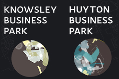 Knowsley and Huyton business park signage