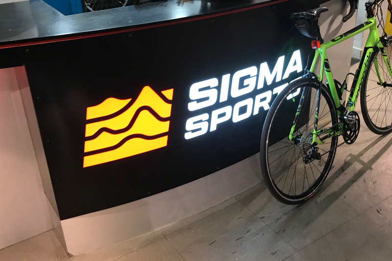 Sigma Sports Internal Signage