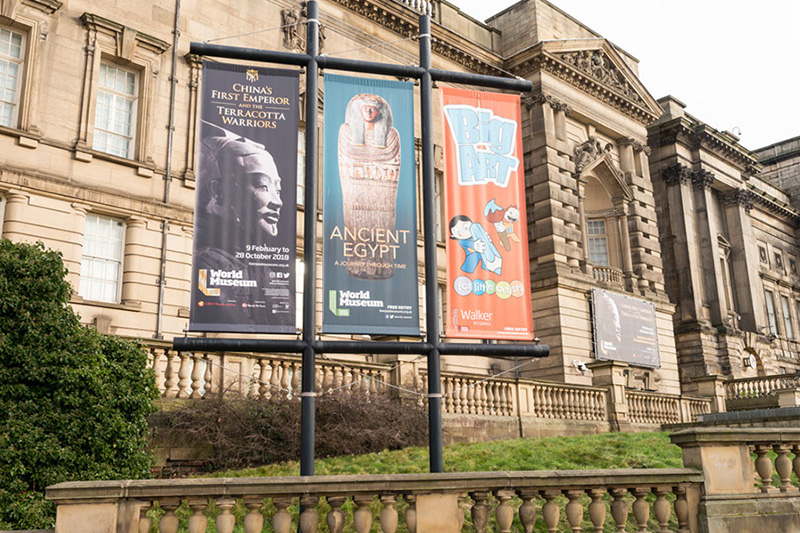 Terracotta army banners at world museum liverpool