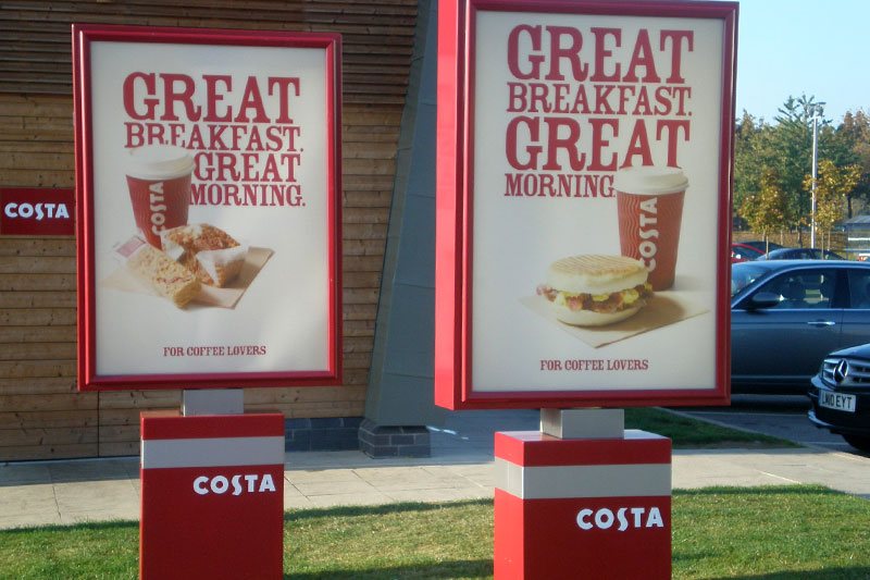 Costa coffee rotating menu case
