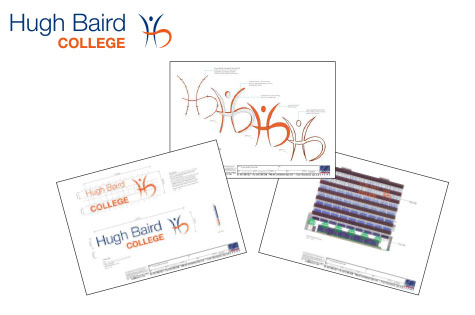 Hugh Baird College Logo and Signage Drawing