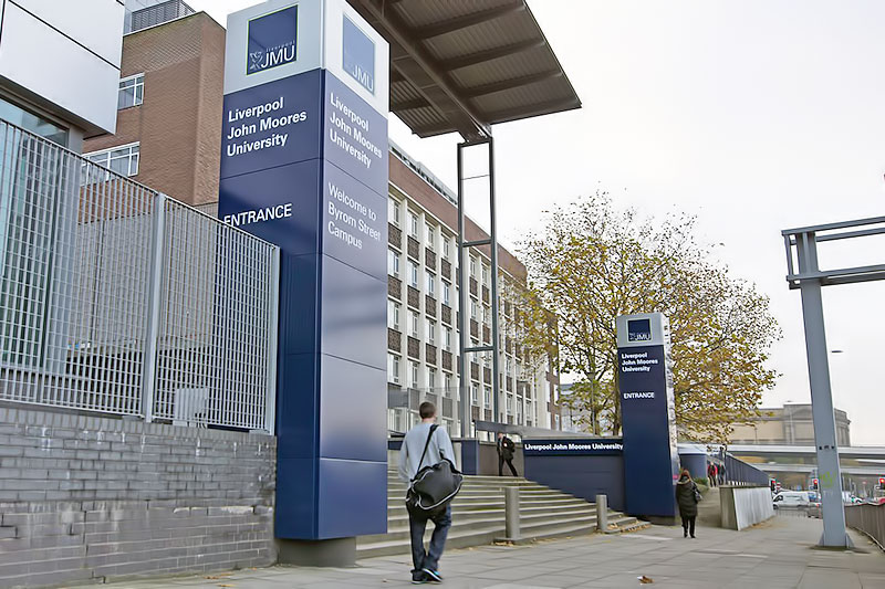 Ljmu Signage After Refurbishment