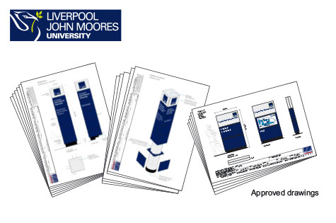 liverpool john moores university signage supplier