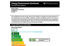 Benson Signs Energy Performance Certificate