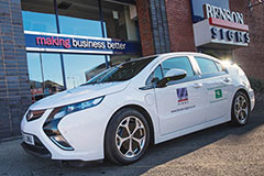 Vauxhall Ampera Electric Vehicle At Benson Signs