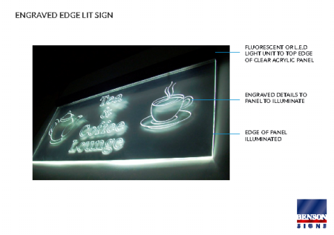 Engraved Edge Lit Sign