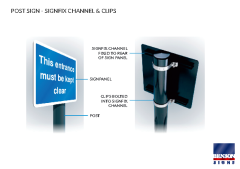 Post Sign Signfix Channel