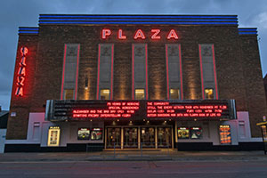 Plaza Cinema Neon Sign